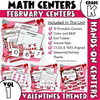 February Centers -- Kindergarten MATH