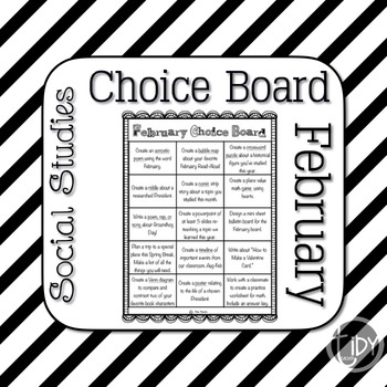 February Choice Board