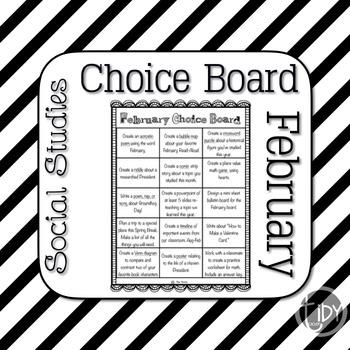 February Choice Board
