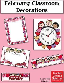 February Classroom Decorations by Karen's Kids (Digital Download)