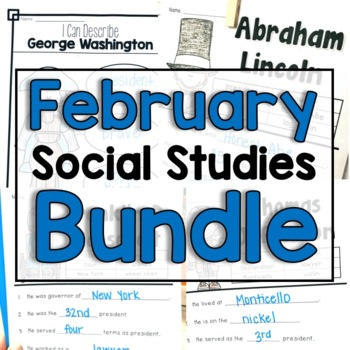 "February ""Click-and-Print"" Social Studies"
