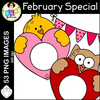 February Clip Art ● February Monthly Special ● Limited Discounted Offer
