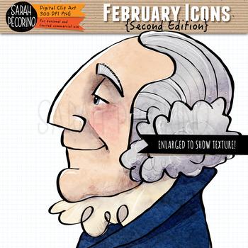 February Clip Art {Second Edition}