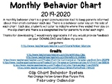 February Clip Chart Behavior Calendar