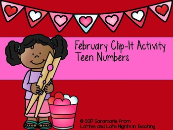 February Clip-It Activity- Teen Numbers DOLLAR DEALS