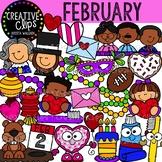 February Clipart {Creative Clips Clipart}