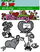 February Clipart / Graphics and Monthly Header