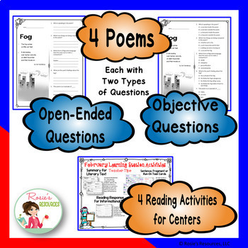 Reading Comprehension Passages and Questions - February