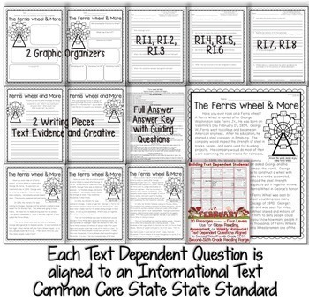 February Close Reading Passages (Text Evidence & CCSS Aligned Tdq's)