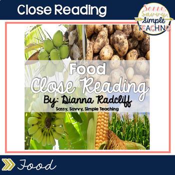 Close Reading: Food {Standards Based}
