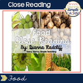 Close Reading: Food {Standards Based}