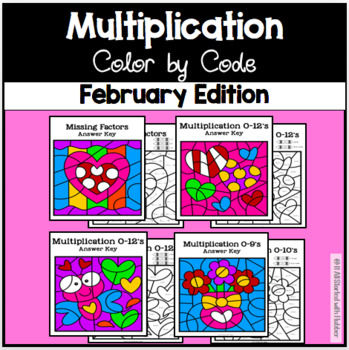February Color by Code—Multiplication