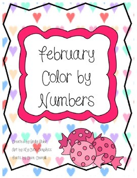 February Color by Numbers