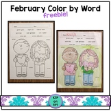 February Color by Word FREEBIE!