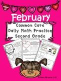 February Common Core Math Practice for Second Grade