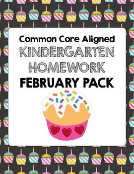 February Common Core Kindergarten Homework