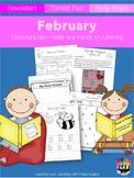 February Communication Folder and Homework