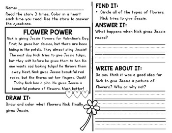 Comprehension Passages and Questions for Little Learners: February