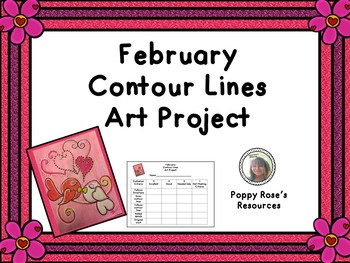 February Contour Lines  Art Project