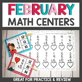 February Math Centers First Grade