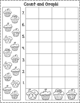 February Count and Graph Worksheets