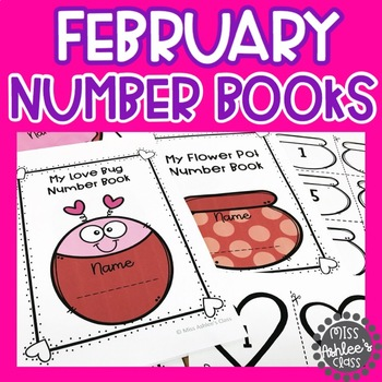 February Number Books | February Counting Books | Numbers 1-10