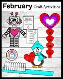 February Craft Bundle: Toothbrush, Penguin, Hearts, President Trump, Shape Robot