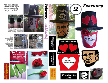February Craft to celebrate more than one holiday