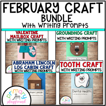 February Craftivities With Writing Prompts/Pages