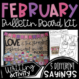 February Cupcake Bulletin Board Kit or Door Decor with Picasso Writing Activity