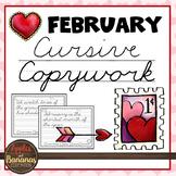 February Cursive Copywork - Cursive Handwriting Practice