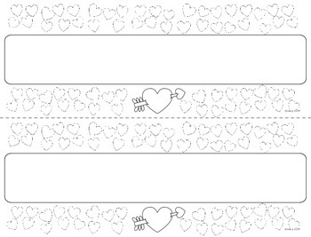 February Cursive Doodle Tags - Ink Friendly Editable Desk Name Tags