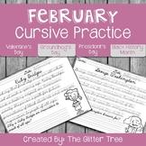 February Cursive Practice