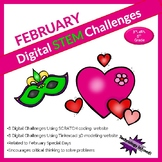 February DIGITAL STEM challenge|coding|Valentine|Mardi Gra