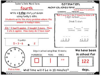 February Daily Calendar Activity Journal