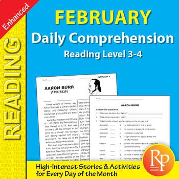 February: Daily Comprehension - Enhanced