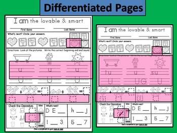 homework kindergarten february packet differentiated common core. Black Bedroom Furniture Sets. Home Design Ideas