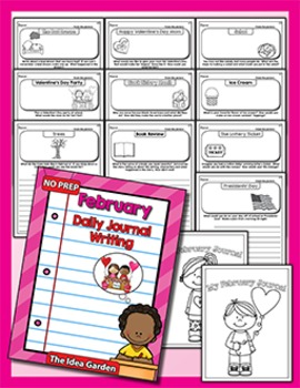 February Daily Journal Writing - NO PREP
