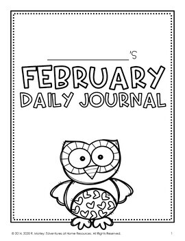 February Daily Journal (Writing Prompts)