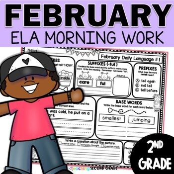 February Daily Language (2nd Grade) -  morning, homework or independent work
