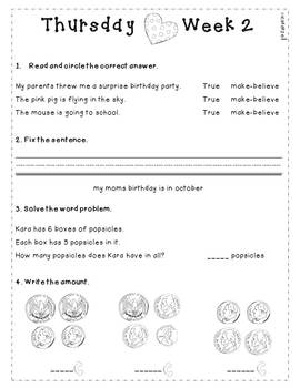 February Daily Language and Math Practice