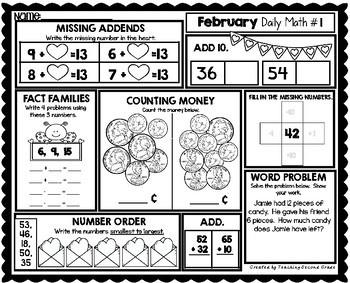Morning Work 1st Grade | February