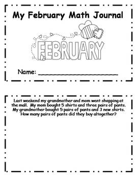 February Daily Math Journal