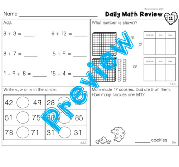 February Daily Math Review
