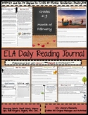 February Daily Reading Morning Work ELA Bell Ringers for Middle School