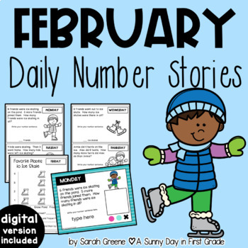 Daily Number Stories FEBRUARY {5 themed weeks!}