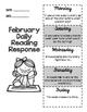 February Daily Reading Response