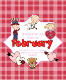 February Daily Work for Kindergarten Common Core (And More!) NO PREP Packet