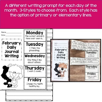 February Daily Quick Writes Writing Journal