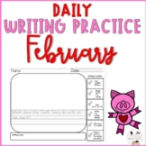February Daily Writing Prompts for Kindergarten and First Grade